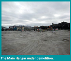 Main hangar under demolition