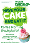 A small thumbnail image of the Have Your Cake and Eat It coffee morning in aid of Macmillan Cancer Support poster. Click to enlarge.