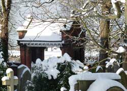 A snow view of Christ Church Woodford, Cheshire taken by John Knowles