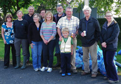 A photograph of Woodford residents who took part in the Pick up Litter Day