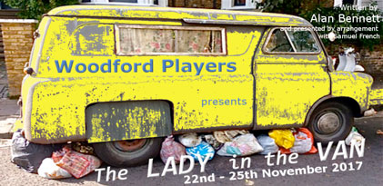 Woodford Players photo to promote The Lady in the Van production