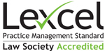Lexcel Practice Management Standard - Law Society Accredited Quality Mark small logo