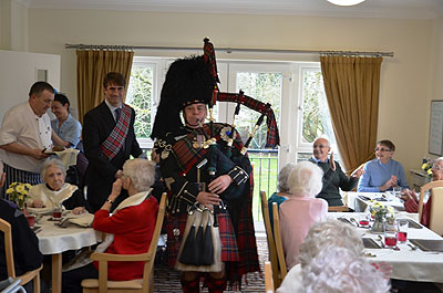 Piping in the haggis at Southfield House